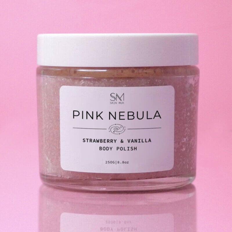 pink-nebula sugar scrub