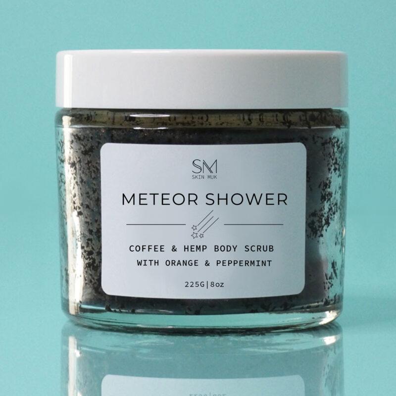 meteor shower ground coffee scrub